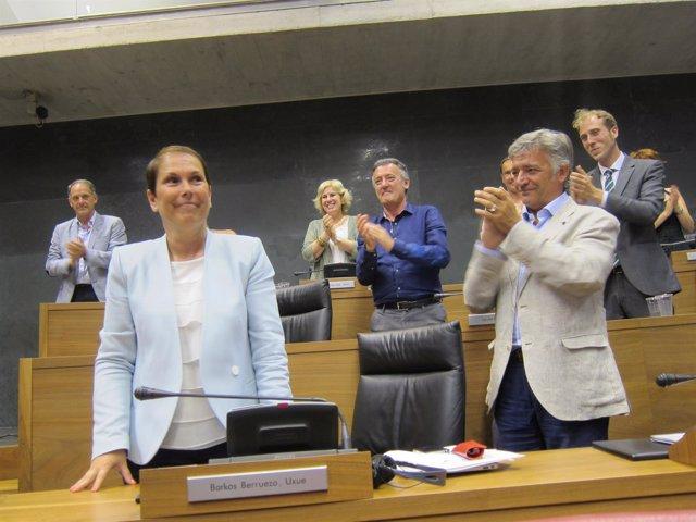 Uxue Barkos, elegida presidenta de Navarra