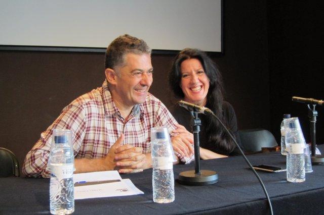 Francesc Casadesús (dtor.Mercat) y María Pagés