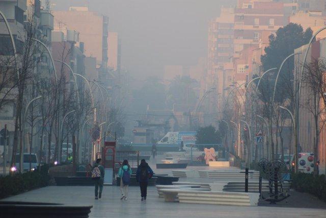 Imagen del humo de las quemas