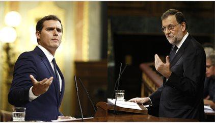 """Rivera critica a Rajoy el """"forat negre"""" en la recaptació de l'Impost a Societats"""