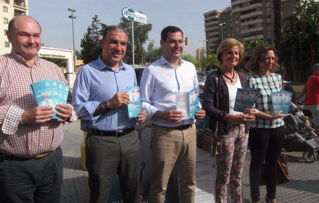Garrido, Bendodo, Moreno, Oña y Navarro en Málaga