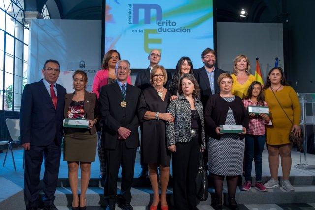 Premiados por el Mérito Educativo en Andalucía 2015-16