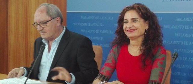 María Jesús Montero, hoy junto a Juan Cornejo y José Muñoz