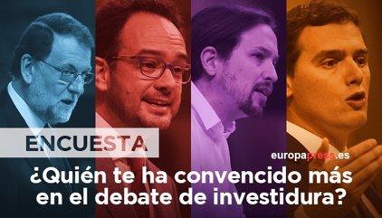 ENCUESTA | ¿Cuál de estos cuatro oradores te ha convencido más en el debate de investidura?