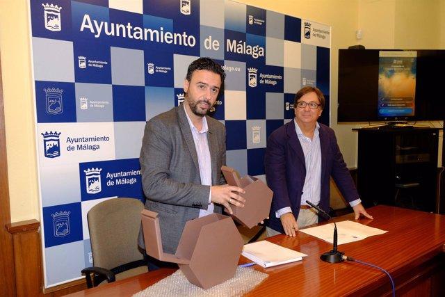 El concejal Raúl Jiménez en rueda de prensa sobre Parcemasa.