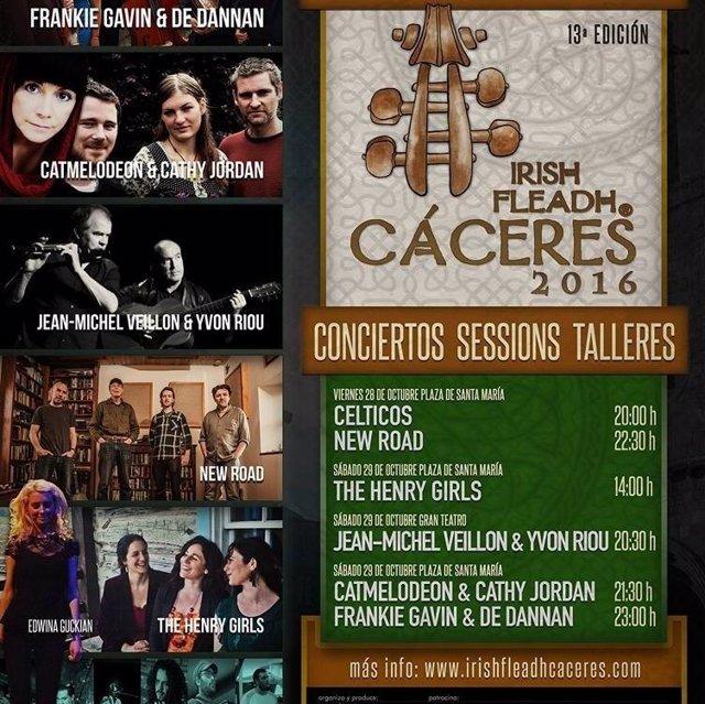 Programa del XIII Irish Fleadh de Cáceres