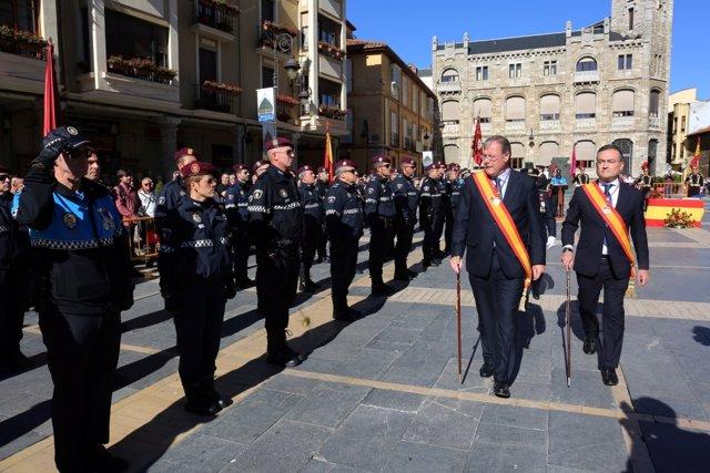Acto de la festividad de la Policía Local en León