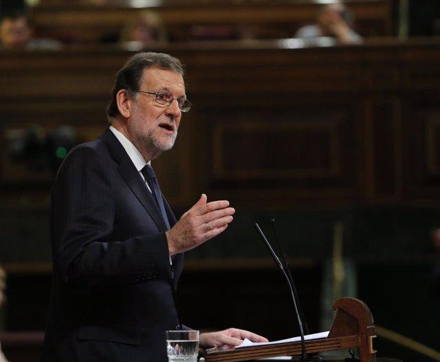 Mariano Rajoy en el debate de su investidura