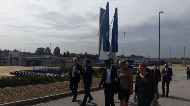 Visita de una delegación de Randers al puerto de Sevilla
