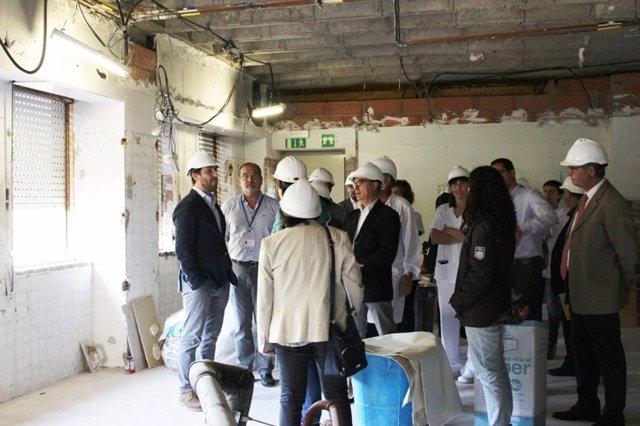Visita de obras al Hospital Josep Trueta de Girona