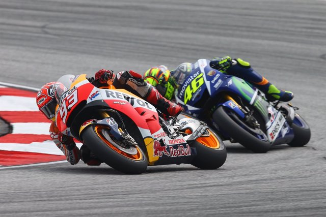 MotoGP - GP de Malasia. Carrera, Marc Marquez y Rossi