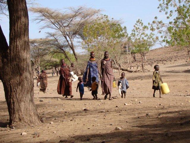 Comunidad en la zona de Turkana (Kenia)