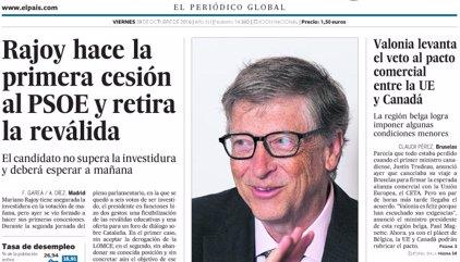 Las portadas de los periódicos de hoy, viernes 28 de octubre de 2016