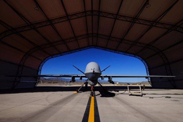 Drone de Estados Unidos en una base de Nevada