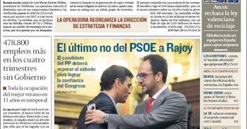 Las portadas de los periódicos económicos de hoy, viernes 28 de octubre