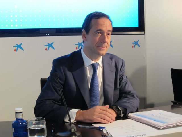 Gonzalo Gortázar (CaixaBank) en rueda de prensa de resultados