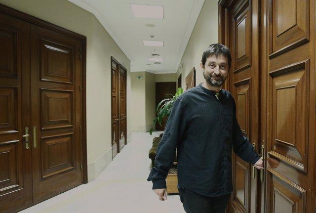 Rafael Mayoral, de Podemos, en el Congreso