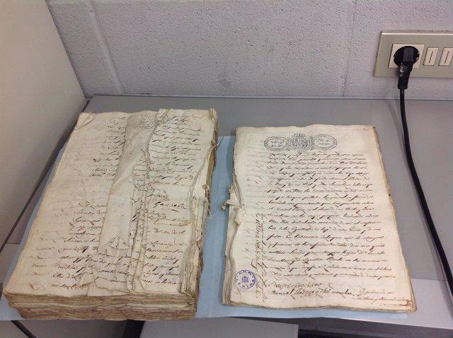 Manual notarial restaurado por la Conselleria de Cultura