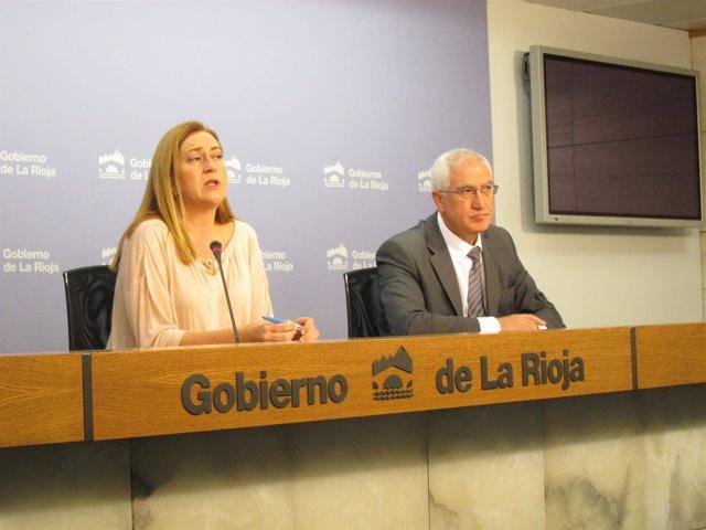 Martínez Arregui y Bayo en la comparecencia del Consejo de Gobierno