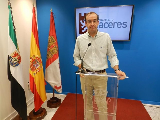 Rafael Mateos, portavoz del equipo de Gobierno de Cáceres