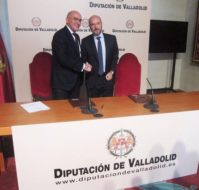Firma del acuerdo entre Diputación de Valladolid y Justicia