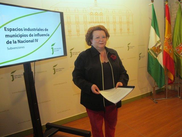Pilar Parra, durante la rueda de prensa