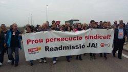 Concentració a Lleida per l'acomiadament d'un treballador per comentaris de l'empresa a Facebook (CC.OO.)