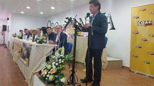 Miguel Blanco interviene en la clausura del X congreso de COAG-A.