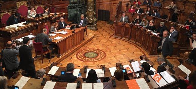 Pleno municipal de Barcelona