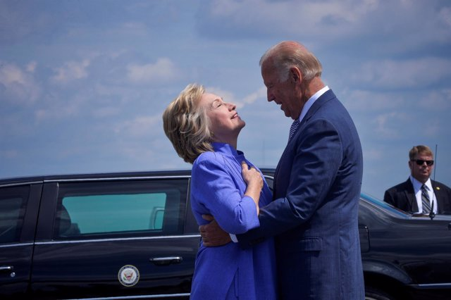 Hillary Clinton y Joe Biden