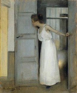 Ramon Casas, Estudi d'estiu o Primero pasarás sobre mi cadáver, 1893