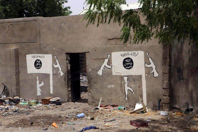 Pintada de Boko Haram en la ciudad nigeriana de Damasak