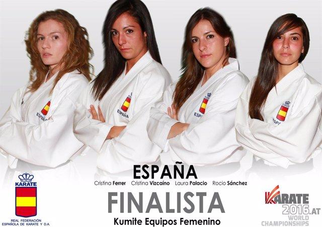 Equipo español de kárate femenino