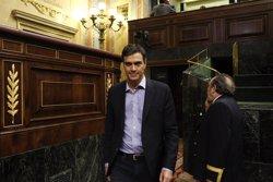 Pedro Sánchez compareix aquest dissabte al Congrés abans de la votació d'investidura (EUROPA PRESS)