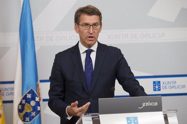 Rueda de prensa de Alberto Núñez Feijóo tras el Consello de la Xunta