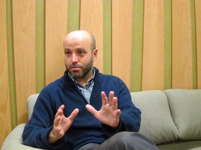 Luís Villares en una entrevista con Europa Press