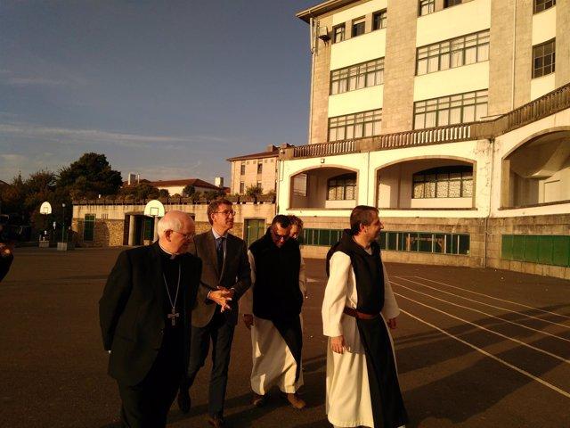 El arzobispo de Santiago y el presidente de la Xunta en funciones