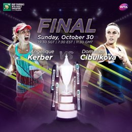 Cibulkova y Kerber se medirán en la final de maestras