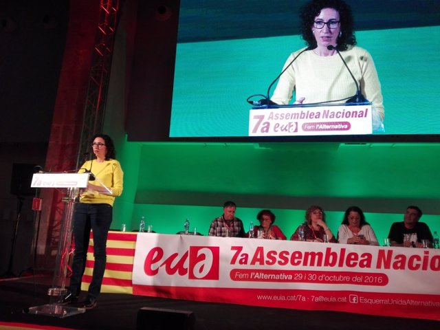 Marta Rovira (ERC) en la VII Asamblea de EUiA