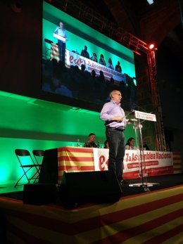 Lluís Rabell (SíQueEsPot) en la VII Asamblea de EUiA