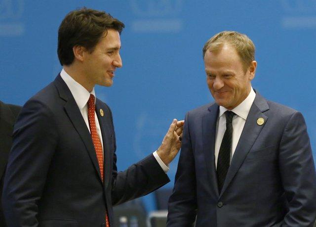 Trudeau y Tusk