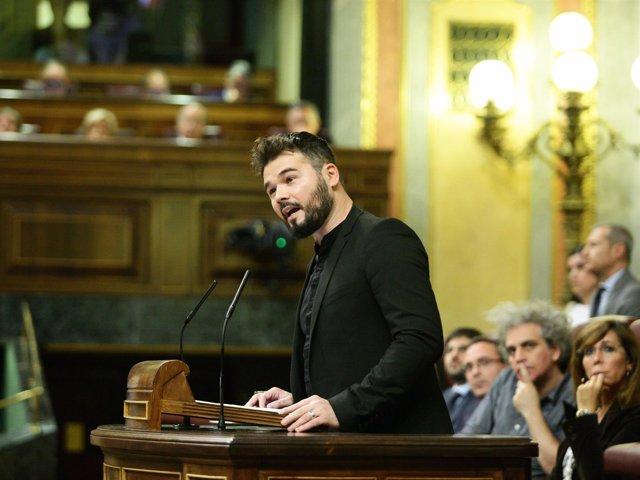 Gabriel Rufián, de ERC