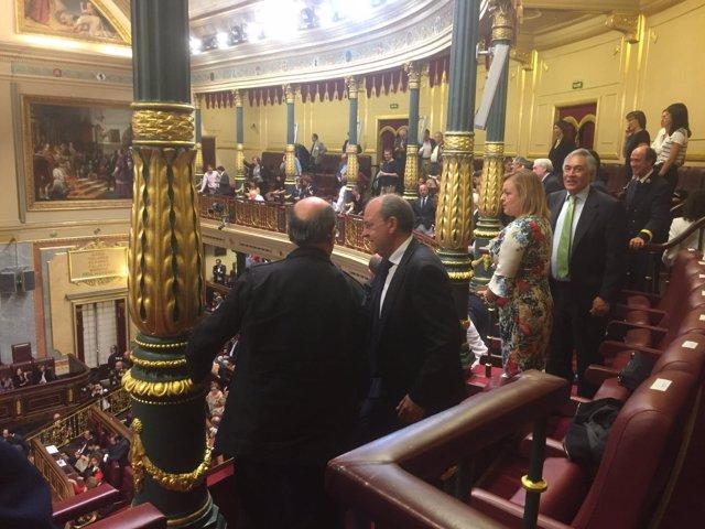 Monago, en el Congreso durante la investidura de Rajoy