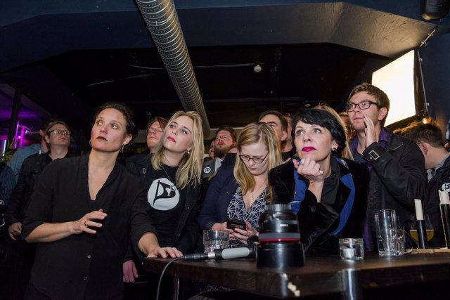 Seguidores del Partido Pirata de Islandia
