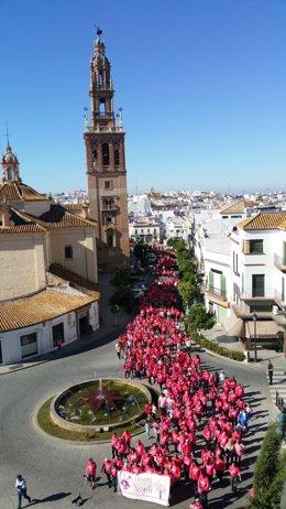 Carrera contra el cáncer de mama en Carmona (Sevilla)