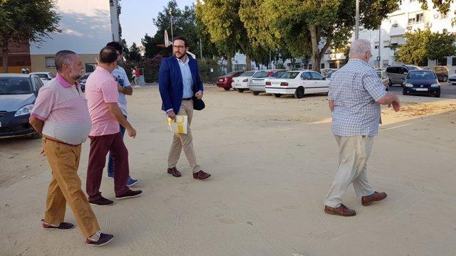 Visita del concejal Francisco Moraga a Su Eminencia