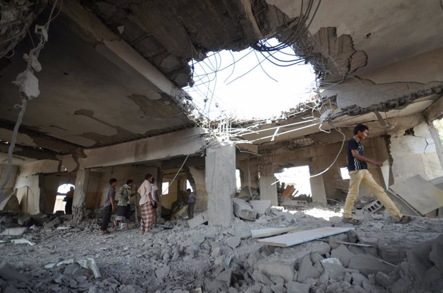 Prisión bombardeada en Yemen