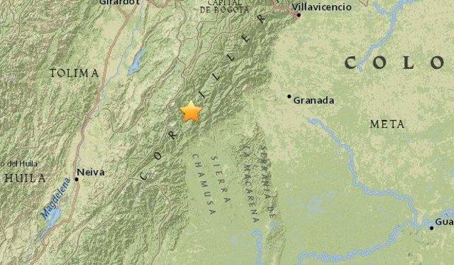 Terremoto de magnitud 5,4 en Colombia