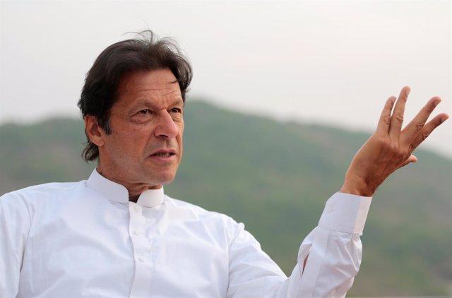 El líder del partido paquistaní PTI, Imran Jan
