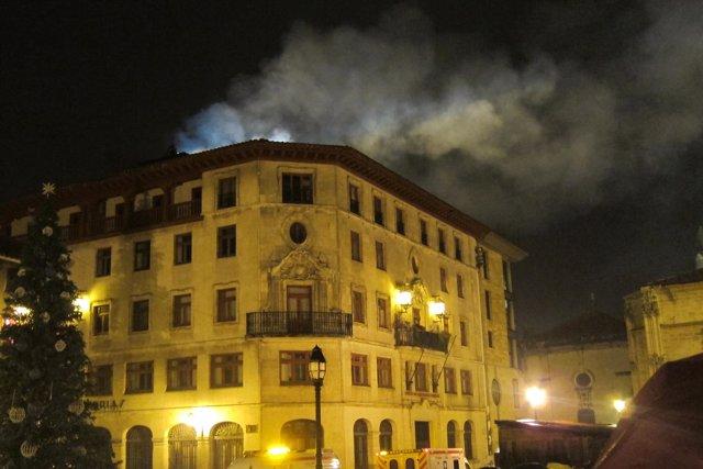 Incendio en Oviedo.